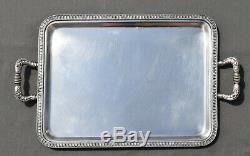 PLATEAU EN ARGENT MASSIF ITALIEN 800 STYLE Empire (italian silver tea tray)
