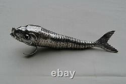 POISSON CARNASSIER ARTICULE EN ARGENT MASSIF Sterling Silver Moving Fish
