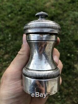 POIVRIER ARGENT MASSIF MINERVE PEUGEOT orfèvre Objet Table French Silver Frères