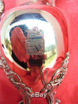 POT A LAIT ARGENT MASSIF BLASON ARMOIRIES COURONNE MARQUIS SILVER MILK POT 19 th