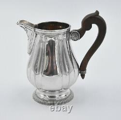 POT A LAIT ARGENT MASSIF MINERVE DECOR DE GODRONS silver milk pot
