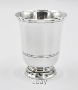 PUIFORCAT GRANDE TIMBALE ARGENT MASSIF MINERVE (french silver cup) GODRONS