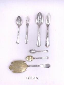 PUIFORCAT Ménagère argent massif Fer de lance Antique silver cutlery 5560 g