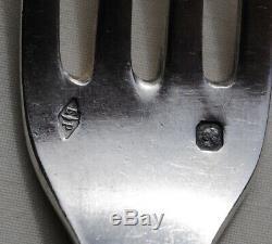 PUIFORCAT POMPADOUR 11 CUILLERES & 1 FOURCHETTE ENTREMETS (12pc) Sterling Silver