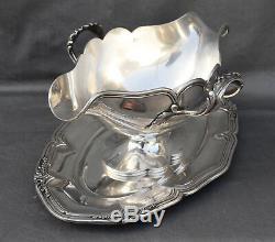 PUIFORCAT SAUCIERE EN ARGENT MASSIF MINERVE (french silver) STYL LOUIS XV