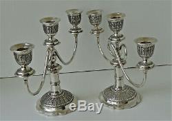 Paire Chandeliers Argent Massif Perse VARTAN 84 Antique Persian Silver 1907/1917