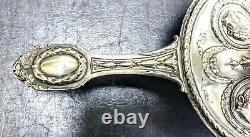 Pays Bas Bougeoir A Main Argent Massif Profils Empereurs Romains Dutch Silver