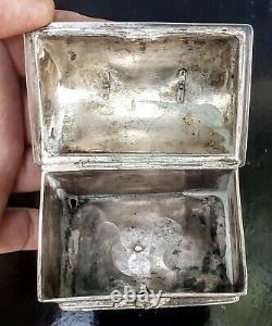 Pays Bas Tres Rare Coffret Mariage Argent 17eme Casket Silver 17th Knottekistje