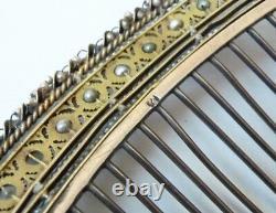 Peigne diadème Empire 18e s vermeil ARGENT silver comb tiara peineta bijou