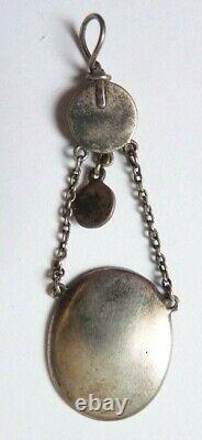 Pendentif argent à l'Antique Dieu Hermes 19e siècle silver pendant zeus
