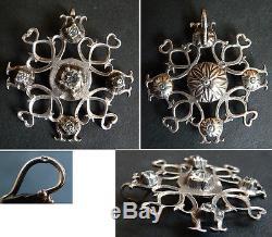 Pendentif croix en ARGENT massif Maintenon provençal 19e siècle silver pendant