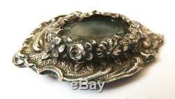 Pendentif reliquaire argent massif + cristal roche silver 18e siècle reliquary