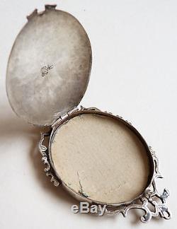 Pendentif reliquaire en argent massif relique 18e siècle silver reliquary