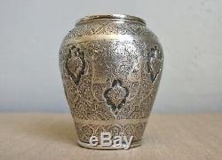 Petit VASE qajar Perse en ARGENT MASSIF Epoque XIXe qajar persian silver vase