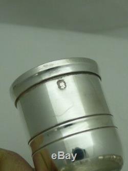 Petit bougeoir argent massif Christofle candlestick silver handleuchter silber