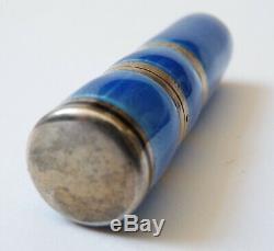 Petit flacon à parfum en ARGENT massif vers 1910 silver sent bottle