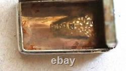 Petite VINAIGRETTE ARGENT MASSIF Birmingham 1834 Georgian Silver vinaigrette box