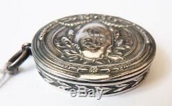 Petite boite argent massif de MARIE ANTOINETTE silver box chatelaine Lecoultre