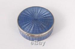 Petite boîte ronde argent massif étranger émaillé émail silver XXè siècle