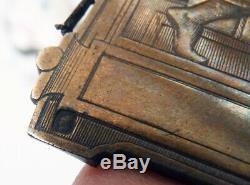 Plaque en argent massif ciselé ACHILLE LIGNON par Armand CALLIAT Silver Lyon