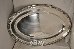 Plat Ancien Argent Massif Antique Solid Silver Dish Mo Tetard 1,112 KG Art Deco