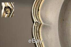 Plat Ancien Argent Vermeil Armoiries 175gr Antique Solid Silver Coat Of Arms