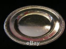 Plat décor godrons en Argent Massif Silver Silber Wolfers 25,5 cm
