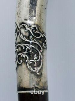 Pommeau manche de canne ART NOUVEAU en argent silver stick 1900