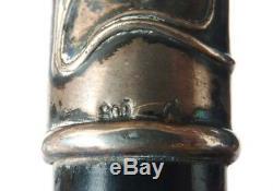 Pommeau manche de canne ART NOUVEAU en argent silver stick 1900 silver