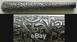 Pommeau manche de canne en argent Indochine Siam Vietnam 19e silver