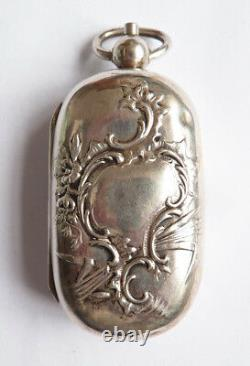 Porte-Louis en argent massif aumonière ancien 19e siècle silver coin holder
