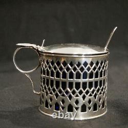 Pot à caviar, confiture, moutarde Anglais Russe Argent Massif 88 Sterling silver