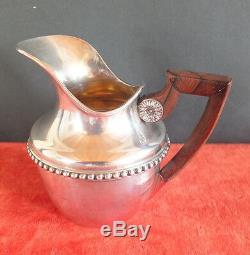 Pot à crème à lait argent massif minerve milk pot cream pot silver