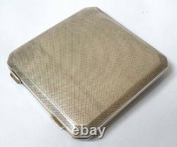 Poudrier ASPREY argent massif + laque + corail silver powder box 1933 Art Deco