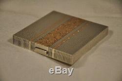 Poudrier Argent Massif Art Deco Boucheron Antique Solid Silver Powder Compact