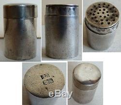 RARE saupoudreuse salière boite en argent massif 19e siècle CHINE China silver