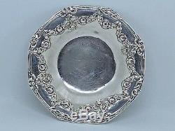 Rare ASSIETTE COUPELLE CENDRIER ANCIEN ARGENT MASSIF RUBIS ANGLETERRE XIX SILVER