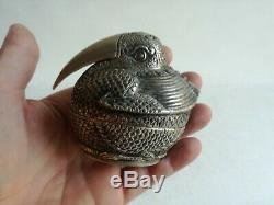 Rare Boite Chinoise En Argent Massif Chine Chinese Export Silver Box