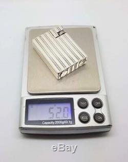 Rare Briquet Argent Massif Solid silver Petrol Wick Lighter Chanteloup Paris