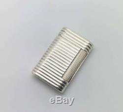 Rare Briquet Argent Massif Solid silver Petrol Wick Lighter VCA Van Cleef Paris