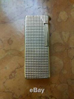 Rare Briquet Dunhill Aldunil Argent Massif Sterling Silver Lighter Feuerzeug