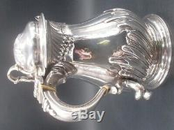 Rare Chope Pichet A Biere En Argent Silver Tankard Epoque George II Londres 1753