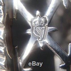 Rare Dessous De Bouteille En Argent Massif Silver Wine Coaster Dublin 18/19 Eme