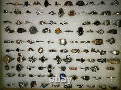 Rare Lot De 205 Bagues Argent Ancienne Vintage Et Contemporaine Ring Silver 925