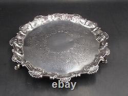 Rare Plateau En Argent Massif Epoque 18 Eme Angleterre Silver Dish Londres 1762