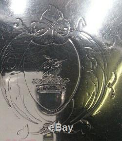 Rare Plateau Tripode Argent 18 Eme Silver Salver Epoque George III Londres 1779