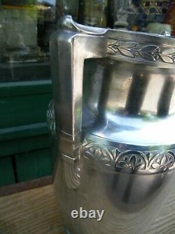 Rare Vase Urne à anses en Argent Massif Silver Silber 31 cm