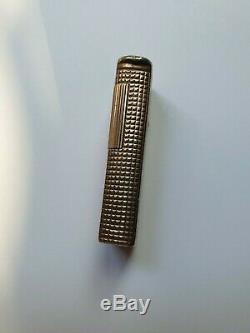 Rare Vintage Briquet Dunhill Argent Massif Plaque Or Sterling Silver Lighter