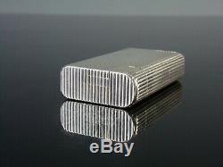 Rare briquet essence lighter petrol CHANTELOUP Style HERMES Argent massif silver