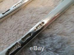 Rare série 5 fourchettes de table argent XVIIIème Grenoble 420g silver forks